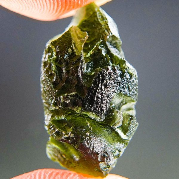Natural Piece Moldavite with Lechatelierite (3.69grams) 3