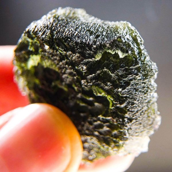 Quality A+ Large Shiny Moldavite with Certificate of Authenticity (17.6grams)4