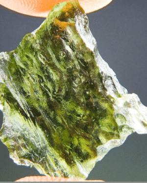 Vibrant Green Moldavite with Certificate of Authenticity (1.86grams) 4
