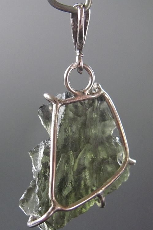 Quality A+++ Brown Green Moldavite from Besednice with Certificate of Authenticity (4.38grams) 5