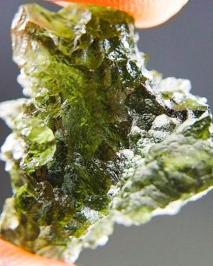 Quality A+/++ Natural Piece Moldavite from Besednice with Certificate of Authenticity (4.46grams) 1