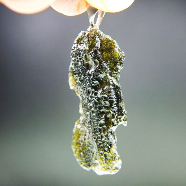 Brown Green Moldavite with Certificate of Authenticity (5.59grams) 1