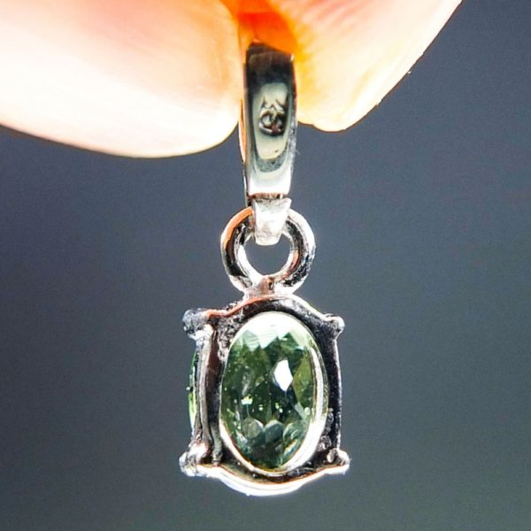 Flat Dumb-Bell Shape Moldavite With Certificate Of Authenticity (0.76grams) 1