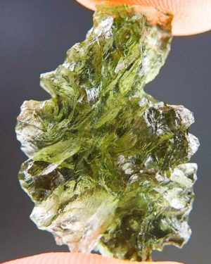 Quality A++ Rare Moldavite from Besednice with Certificate of Authenticity (3.75grams) 1
