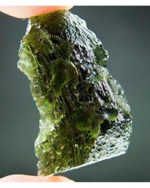 Shiny Olive Green Moldavite (5.93grams) 1