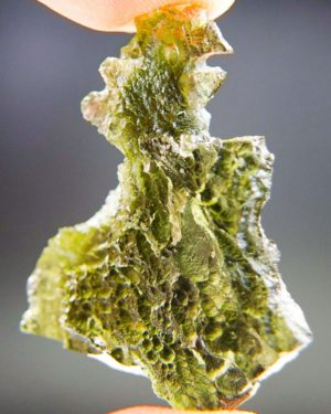 Natural Raw Moldavite With Two Kinds Of Sculpture (6.33grams) 1