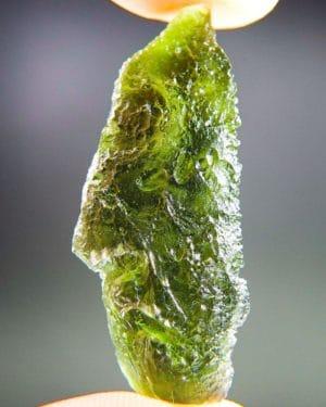 Quality A+Glossy Vibrant Green Raw Moldavite (3.41grams) 1
