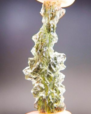 Quality A++ Angel Chime Moldavite from Besednice with Certificate of Authenticity (3.92grams) 1