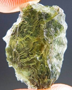 Open Bubble Moldavite from Besednice with Certificate of Authenticity (2.82grams) 1