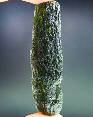 Shiny Stick Shape Moldavite with Certificate of Authenticity (21.9grams) 2