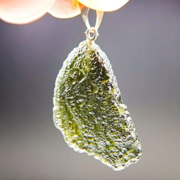 Olive Green Shiny Moldavite Pendant With Certificate of Authenticity (4.47grams) 2