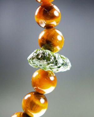 Tyger's Eye Beads Moldavite Bracelet With Certificate Of Authenticity (20.01grams) 2