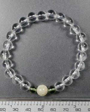 Moldavite with Libyan Desert Glass and Rock Crystal Bracelet (18.0grams) 2