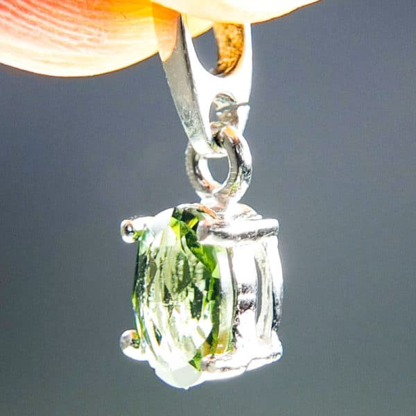 Flat Dumb-Bell Shape Moldavite With Certificate Of Authenticity (0.76grams) 2