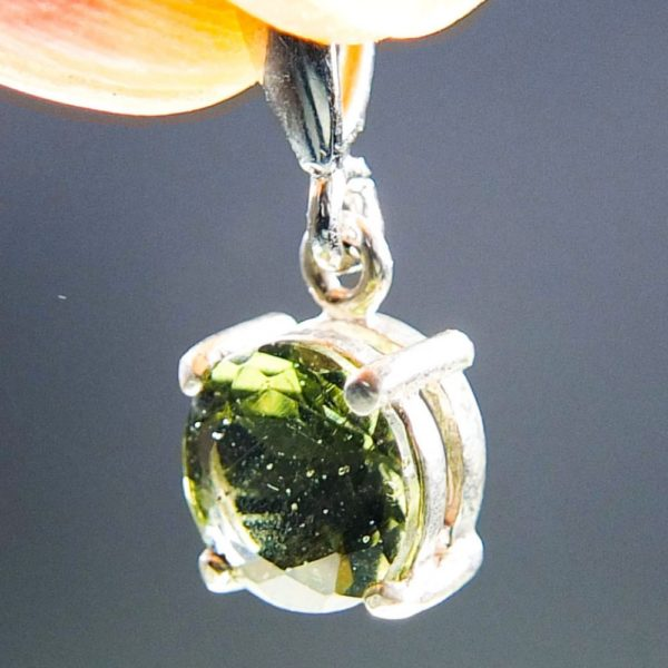 Round Shape Cut Moldavite Pendant With Certificate Of Authenticity (2.0grams) 2