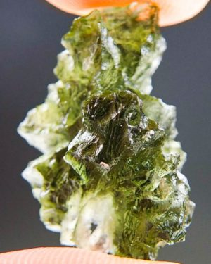 Quality A++ Rare Moldavite from Besednice with Certificate of Authenticity (3.75grams) 2