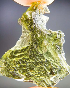 Natural Raw Moldavite With Two Kinds Of Sculpture (6.33grams) 2