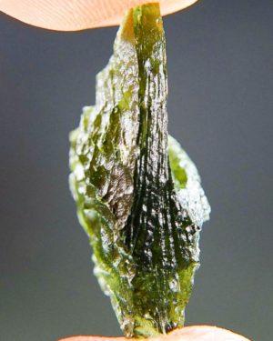 Glossy Vibrant Green Raw Moldavite (2.82grams) 2