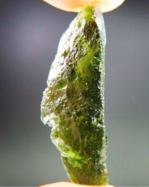Quality A+Glossy Vibrant Green Raw Moldavite (3.41grams) 2