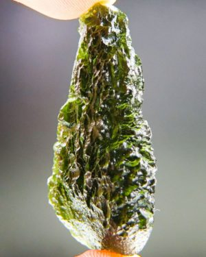 Quality A+ Glossy Drop Shape Moldavite With Certificate Of Authenticity (15.19grams) 2