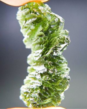 Quality A++ Vibrant Green Moldavite With Certificate Of Authenticity (7.08grams) 2