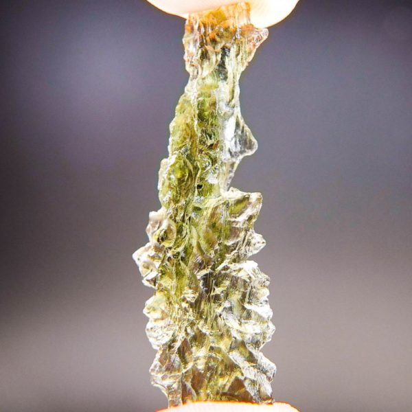 Quality A++ Angel Chime Moldavite from Besednice with Certificate of Authenticity (3.92grams) 2