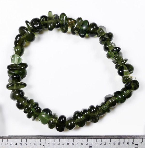 Genuine Moldavite Tumbled Stretch Bracelet (19.6grams)2