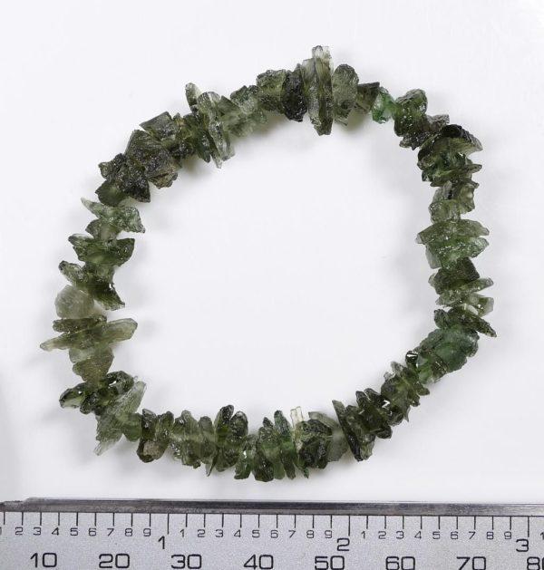 Unique Moldavite Raw Chips Stretch Bracelet (10.3grams) 2