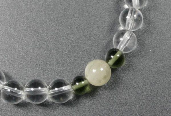 Moldavite with Libyan Desert Glass and Rock Crystal Bracelet (18.0grams) 3