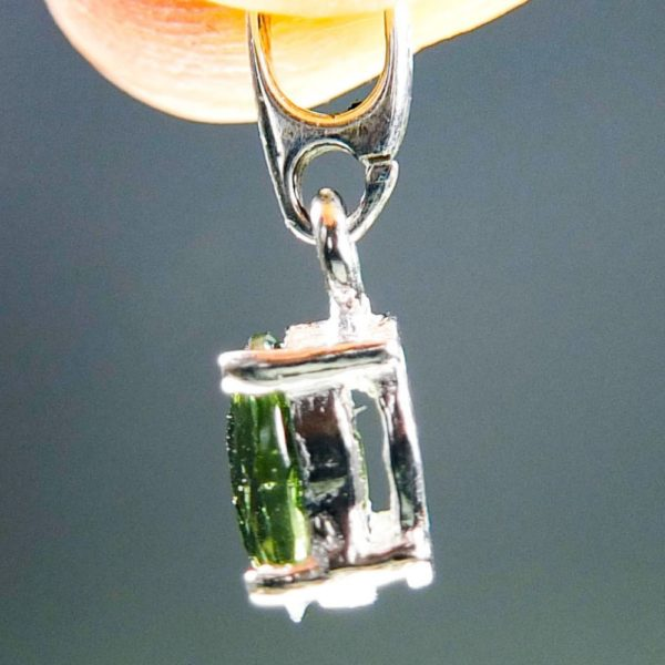 Flat Dumb-Bell Shape Moldavite With Certificate Of Authenticity (0.76grams) 3