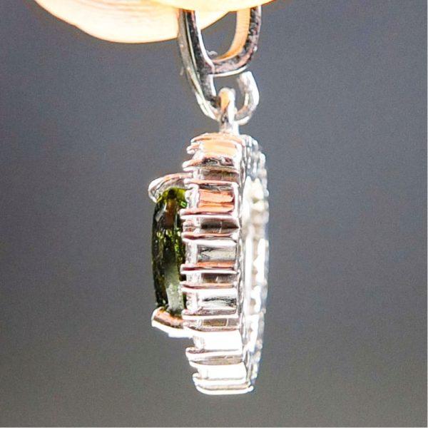 Heart Shape Moldavite Plus Zircons Pendant With Certificate Of Authenticity (2.31grams) 3