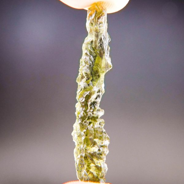 Quality A++ Angel Chime Moldavite from Besednice with Certificate of Authenticity (3.92grams) 3