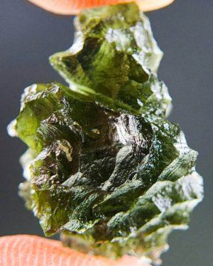 Quality A++ Excellent Moldavite from Besednice with Certificate of Authenticity (3.75grams) 3