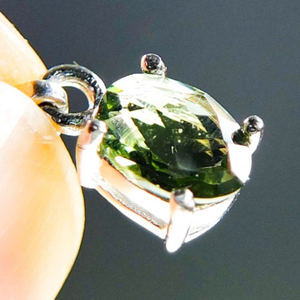 Flat Dumb-Bell Shape Moldavite With Certificate Of Authenticity (0.76grams) 4