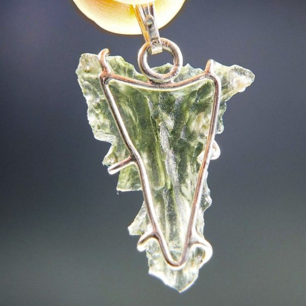 Angel Shape Moldavite From Besednice Pendant With Certificate Of Authenticity (1.76grams) 4