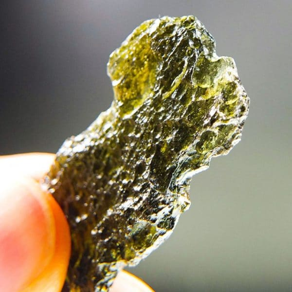 Brown Green Moldavite with Certificate of Authenticity (5.59grams) 4