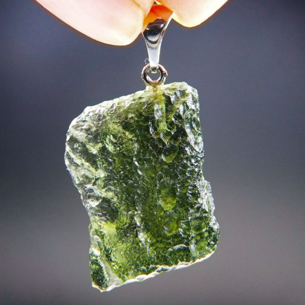 Bottle Green Shiny Moldavite Pendant With Certificate Of Authenticity (5.24grams) 4