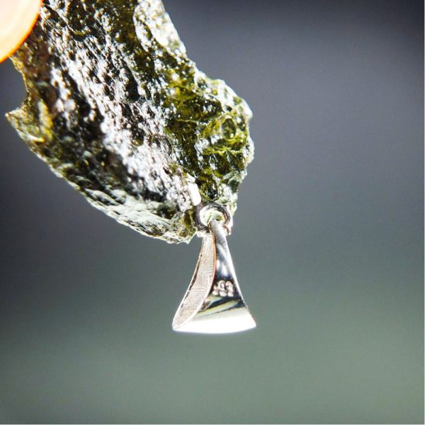 Brown Green Moldavite with Certificate of Authenticity (5.59grams) 5