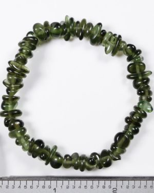 Genuine Moldavite Tumbled Stretch Bracelet (13.4grams) 2