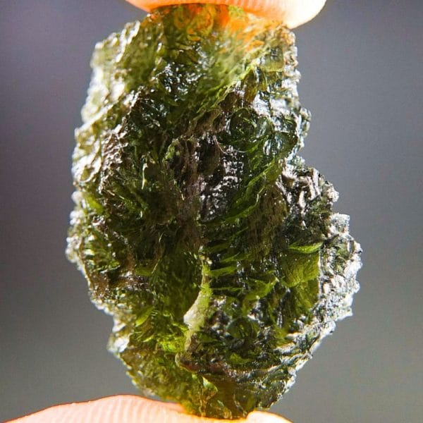 Quality A+/++ Olive Green Moldavite With Certificate Of Authenticity (7.81grams) 1