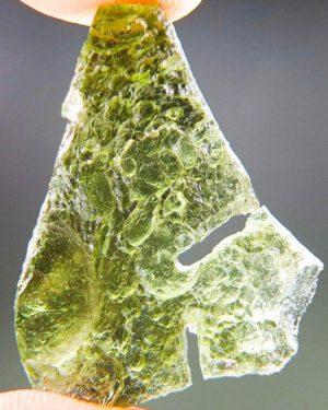Olive Green Unique Shape Moldavite (4.36grams) 1