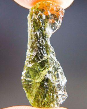 Shiny Olive Green Natural Piece Moldavite (2.07grams) 1
