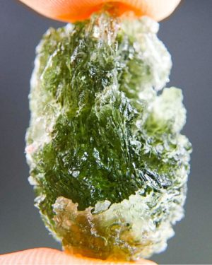Natural Etched Break Rare Moldavite With Certificate Of Authenticity (5.97grams) 1