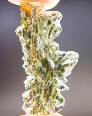 Quality A+/++ Shiny Bottle Green Moldavite From Besednice With Certificate Of Authenticity (2.96grams) 1