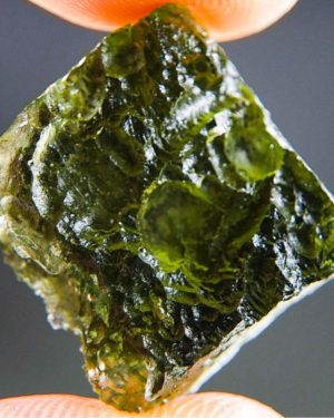 Olive Green Natural Piece Moldavite (4.48grams) 1