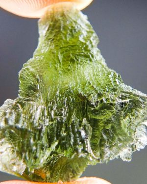 Quality A Olive Green Moldavite With Certificate Of Authenticity (4.77grams) 1