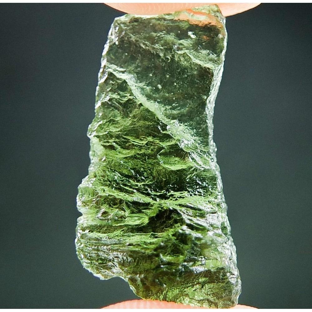 Shiny Vibrant Green Moldavite (2.55grams) 1