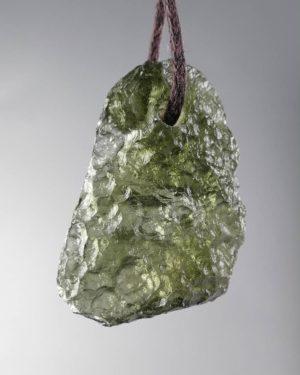 Raw Shape Moldavite Drilled Pendant (3.5grams) 1