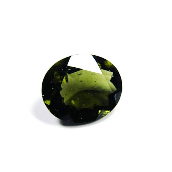 Faceted Closed Bubble Moldavite With Certificate Of Authenticity (0.67grams) 1