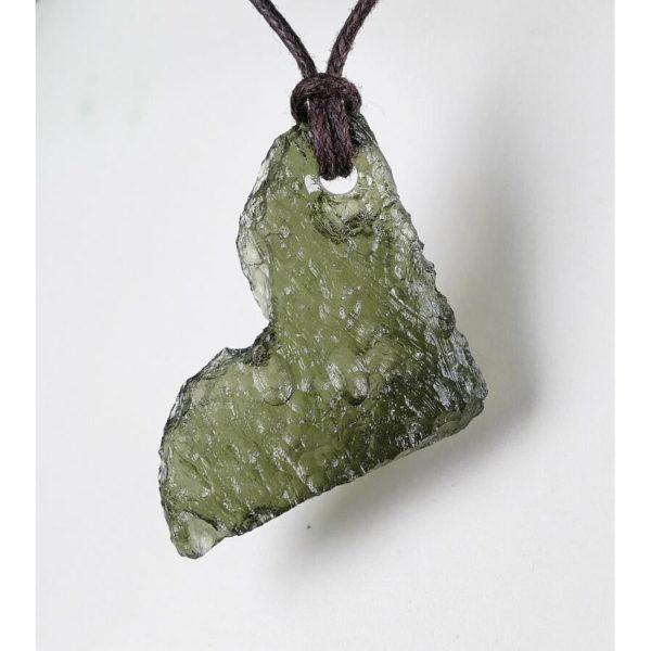 First Grade Drilled Moldavite Necklace (3.4grams) 1